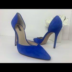 Zara Blue Suede Stiletto Heels 💙